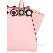 FENDI 3JOURS Mini Handbag With Multicolor Studs / Light Pink