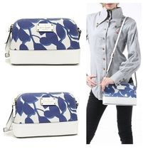 kate spade new york WELLESLEY Flower Patterns Canvas Bi-color Elegant Style Shoulder Bags
