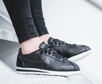 Nike CORTEZ Casual Style Street Style Leather Python Low-Top Sneakers