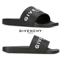 GIVENCHY Open Toe Rubber Sole Shower Shoes PVC Clothing Flat Sandals