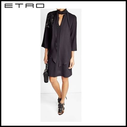 ETRO Wool Crepe Dress with Sequins