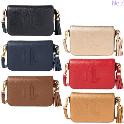 Tassel 2WAY Plain Leather Party Style Shoulder Bags