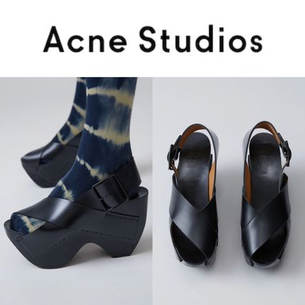 Acne Studios/17 SS platform leather Sandals Carley