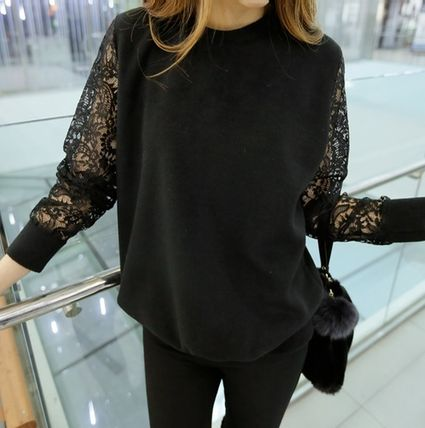 Shield - lace embroidery sleeve tops watermark