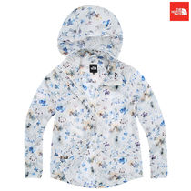 THE NORTH FACE Flower Patterns Star Casual Style Wool Street Style Long