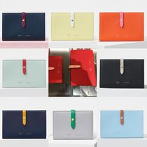 CELINE Strap Unisex Plain Leather Long Wallets