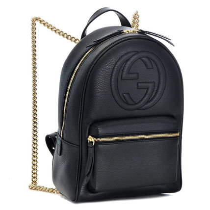 skate shoes on sale online meet GUCCI Soho Chain Plain Leather Backpacks