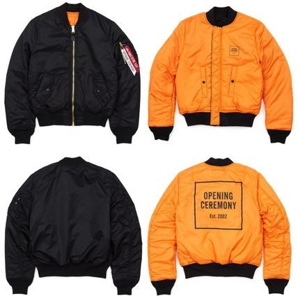 OPENING CEREMONY Short Casual Style Street Style Collaboration Plain MA-1