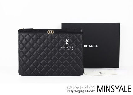 1cfa052a3a4c ... CHANEL Pouches & Cosmetic Bags BOY CHANEL POUCH[London department store  new item] ...