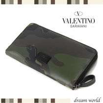 VALENTINO Camouflage Long Wallets