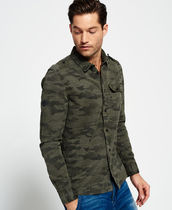 Superdry Camouflage Street Style Long Sleeves Cotton