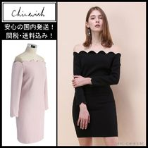 Chicwish Short Tight Long Sleeves Plain Dresses