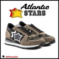 Atlantic STARS Star Camouflage Street Style Leather Sneakers