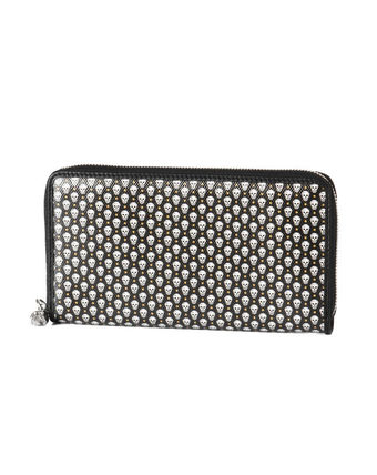ALEXANDER McQUEEN zip long wallet black