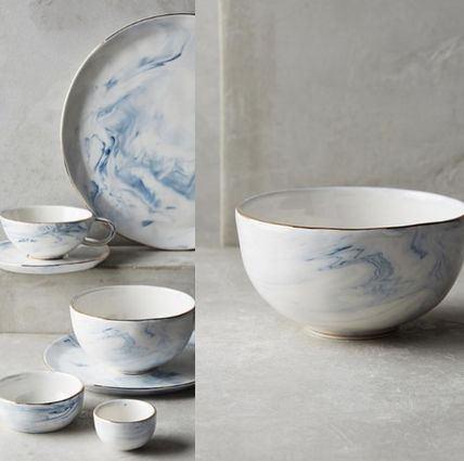 Anthropologie * marble Bowl piece or 2 piece set