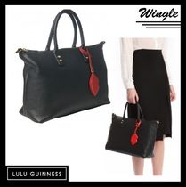 Lulu Guinness Plain Leather Totes