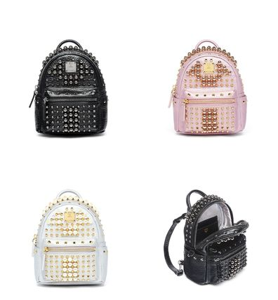 Back pack backpack with pearl studded