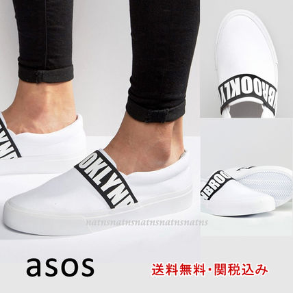 Shipping / * ASOS Brooklyn printed Slip-on sneakers