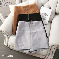 Short Casual Style Plain Skirts
