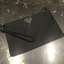 PRADA Nylon 2WAY Plain Clutches