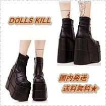 DOLLS KILL Casual Style Plain Wedge Boots