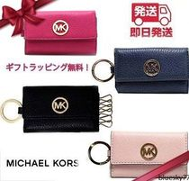 Michael Kors Unisex Plain Leather Keychains & Bag Charms