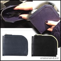 ISSEY MIYAKE Plain Leather Coin Cases