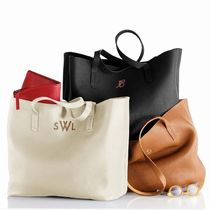marc AND graham Casual Style Unisex A4 Plain Leather Totes