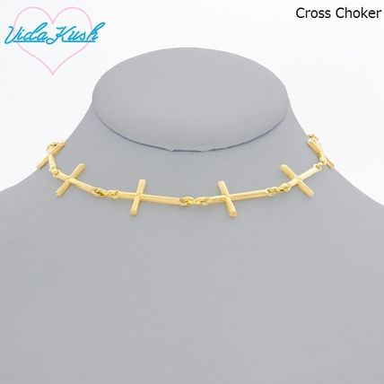 Casual Style Cross Street Style Necklaces & Pendants