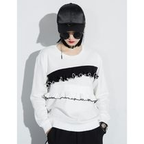 Crew Neck Casual Style Long Sleeves Tops