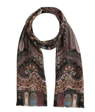 SALE ETRO Paisley patterned silk-cashmere scarf