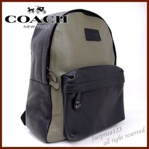 Coach Unisex A4 Bi-color Leather Backpacks