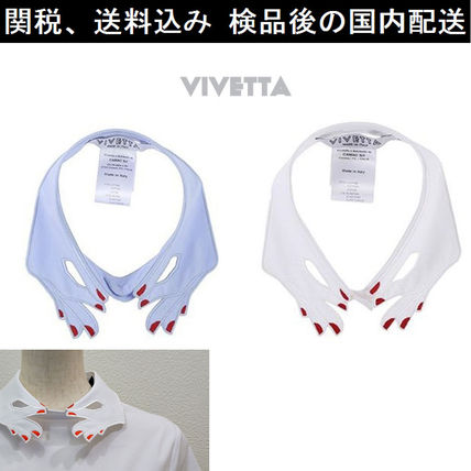 Collar collar red nail embroidery