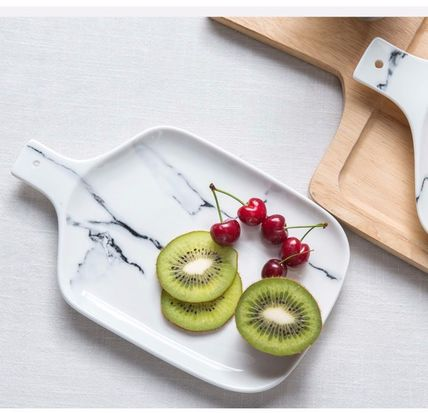 Marble marble pattern plate + tableware dish import s+