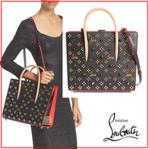 Christian Louboutin Paloma Monogram Studded 2WAY Leather Totes