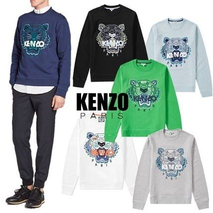 KENZO Crew Neck Long Sleeves Other Animal Patterns Cotton