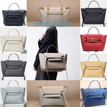 CELINE Belt A4 2WAY Plain Leather Elegant Style Handbags