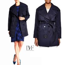 DIANE von FURSTENBERG Plain Medium Office Style Trench Coats