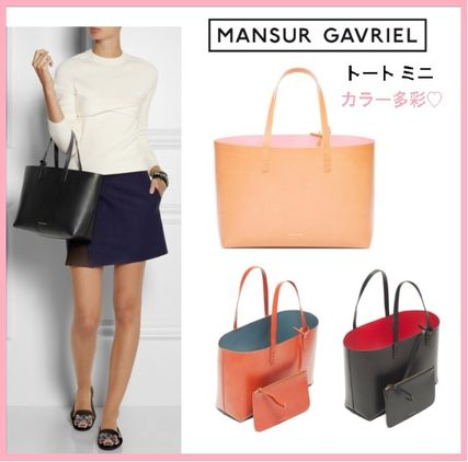 MANSUR GAVRIEL Casual Style A4 Plain Leather Totes
