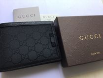 GUCCI Canvas Folding Wallets