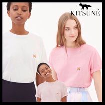 MAISON KITSUNE Short Plain Cotton Short Sleeves Cropped
