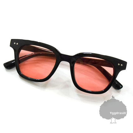 YGG Color Lens Sunglasses Di Yo A black Rame × Red