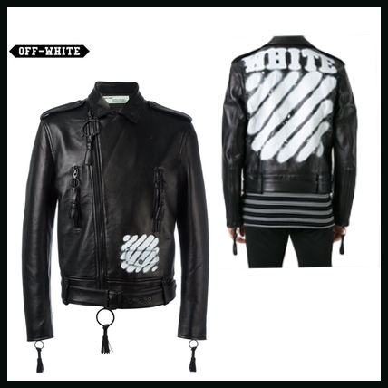Off White Carry Over Leather jacket black