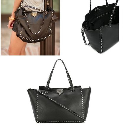 Rock Stud Medium tote Black