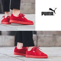 PUMA SUEDE Casual Style Suede Plain Low-Top Sneakers