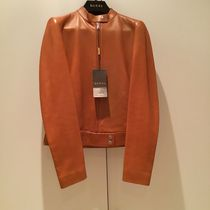 GUCCI Short Plain Leather Elegant Style Jackets