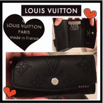 Louis Vuitton MAHINA Monogram Unisex Calfskin Keychains & Holders