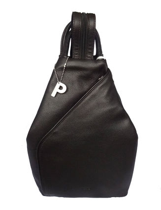 Plain Leather Elegant Style Backpacks