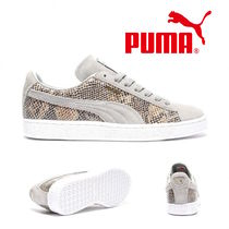 PUMA SUEDE Casual Style Python Low-Top Sneakers