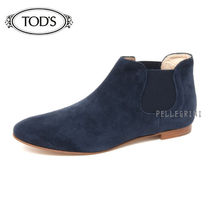 TOD'S Plain Toe Plain Leather Chelsea Boots Ankle & Booties Boots